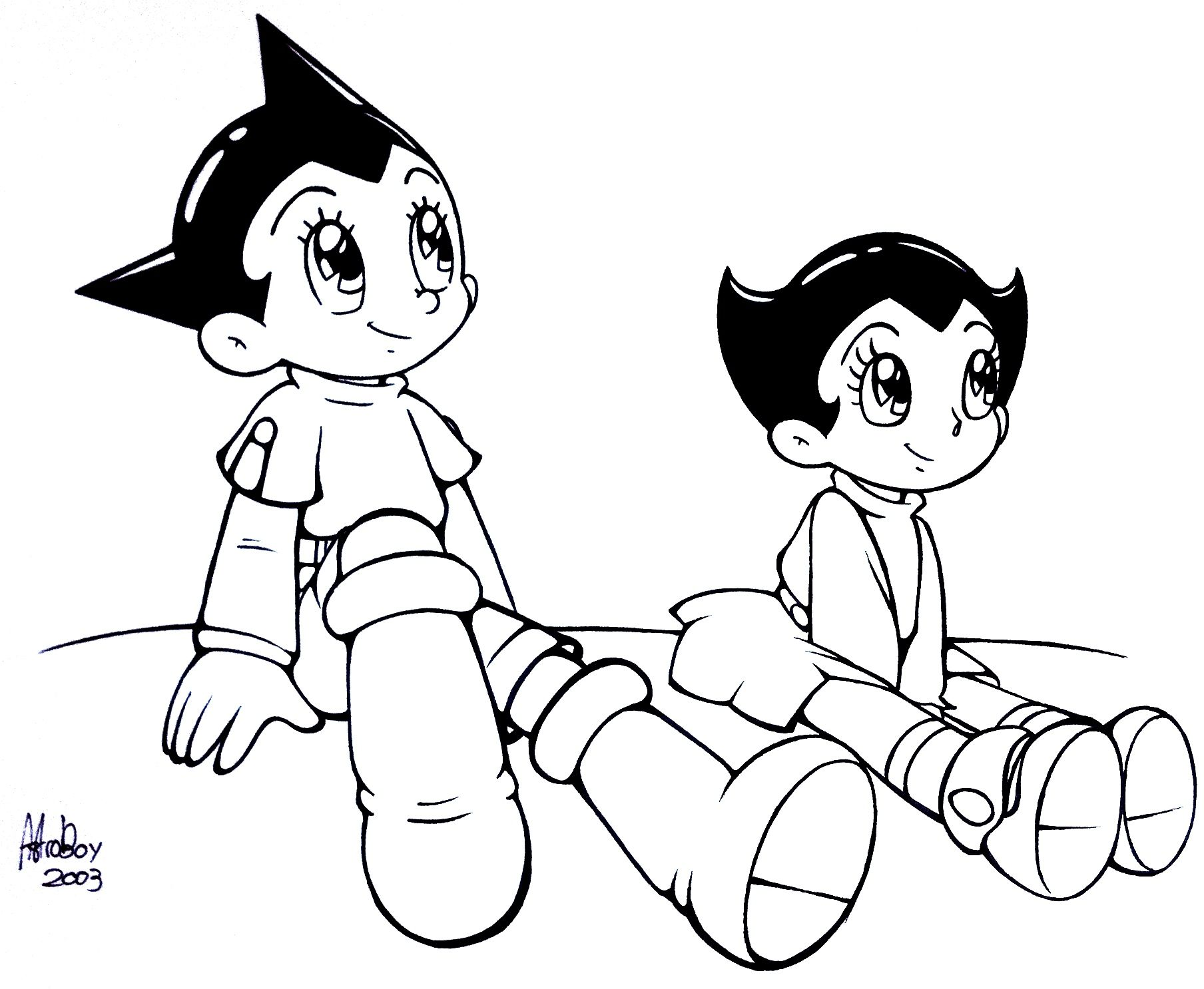 Astro and Zoran by Astro Boy