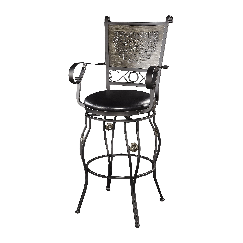 Pleasing Powell Elle Big Tall Wood Metal Barstool Ellie Big Machost Co Dining Chair Design Ideas Machostcouk