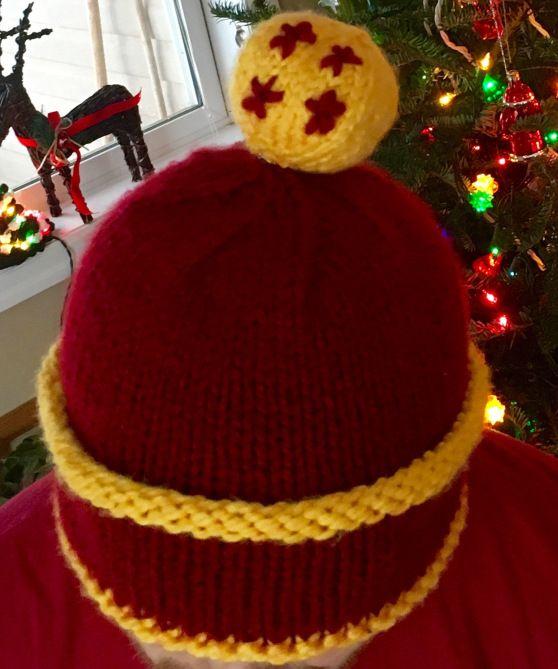 d3e5d483a1ed4d Gohan's Hat - Dragonball Z - 4 Star #knitting #toque #dbz #gohan #goku # dragonball #fourstar #4 #star #hat #crochet #yarn #pattern