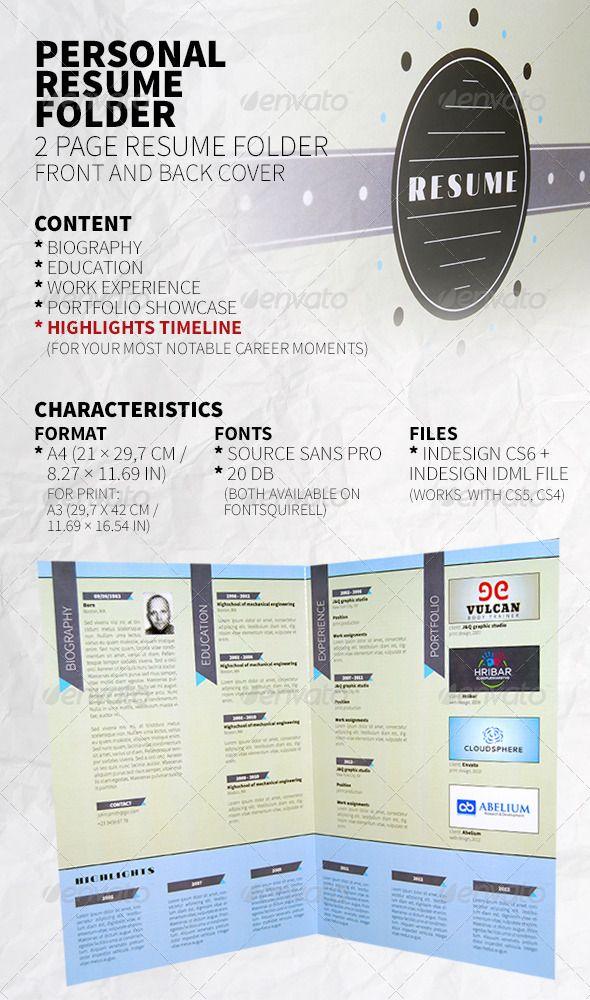 Personal Resume Folder Unique resume, Timeline and Modern resume - personal resume