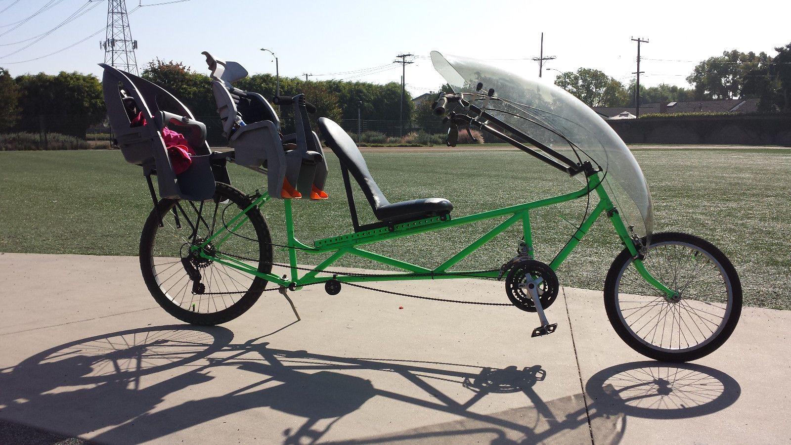 Tour Easy Recumbent Bike One Of A Kind Custom 2 Child Seats Free Delivery In Oc Ebay Bike Tandem Bike Kids Seating