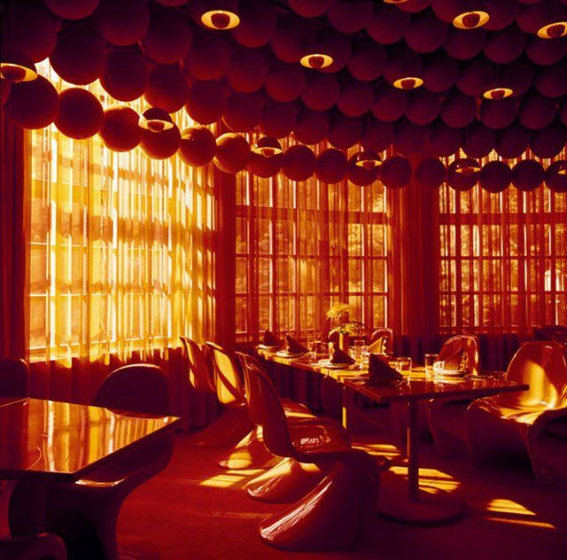 Verner panton interior design for Spiegel verlagshaus