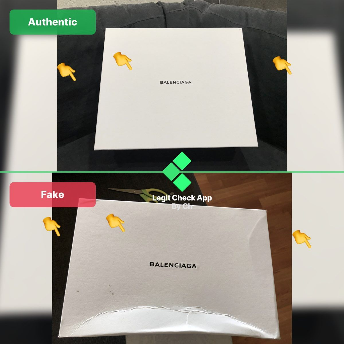 triple s original vs fake