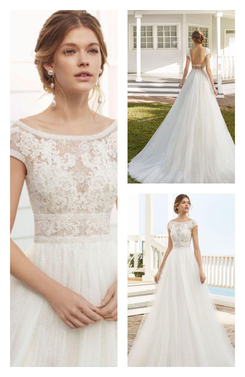 Corneli By Rosa Clara Bridal Dresses Short Lace Wedding Dress Wedding Dress Necklines Wedding Dresses [ 1200 x 780 Pixel ]