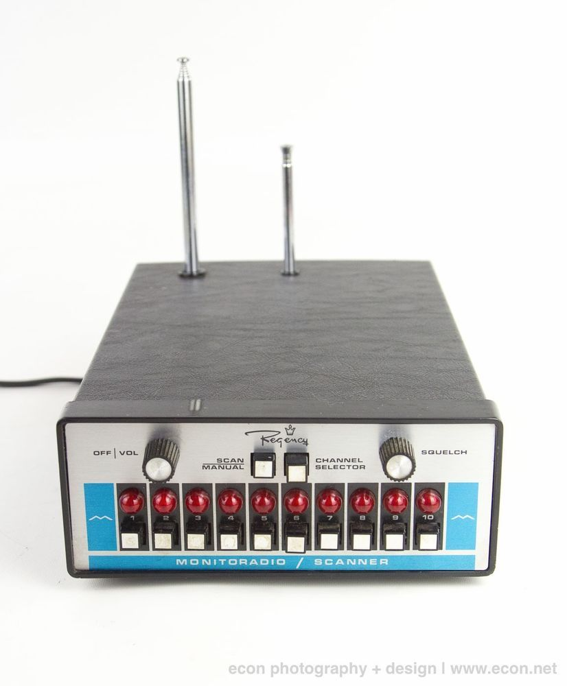VINTAGE REGENCY RADIO RECEIVER SCANNER MONITORADIO 10