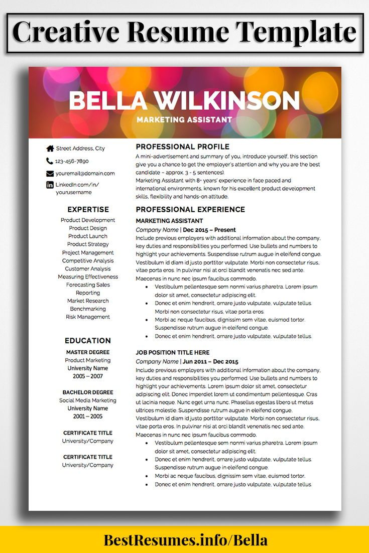 Competitive Analyst Sample Resume Fair Resume Template Bella Wilkinson  Creative Resume Templates Job .