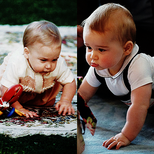 William and George on April 9, 2014 at Plunket in New Zealand