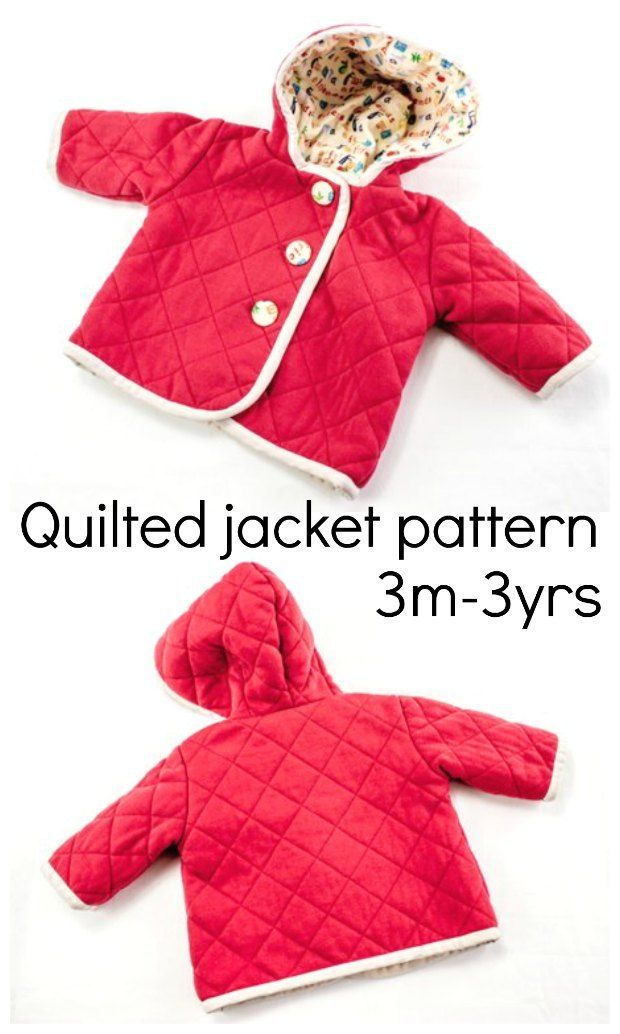 467fe7d51 Sewing pattern for a babies quilted jacket coat with hood. Such a ...