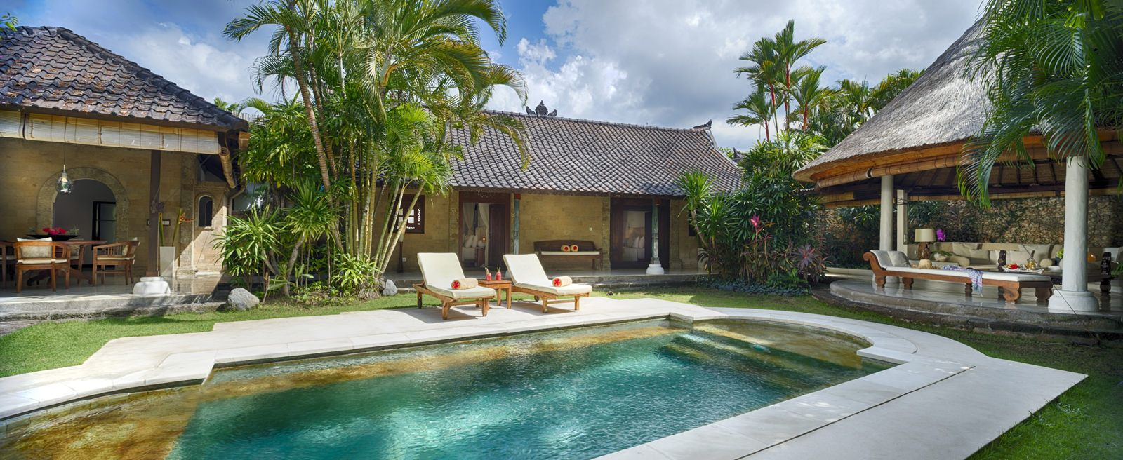 Villa 2 Pool At Villa Kubu Seminyak Bali Villa With Private Pool Outdoor Lounge Area Private Pool