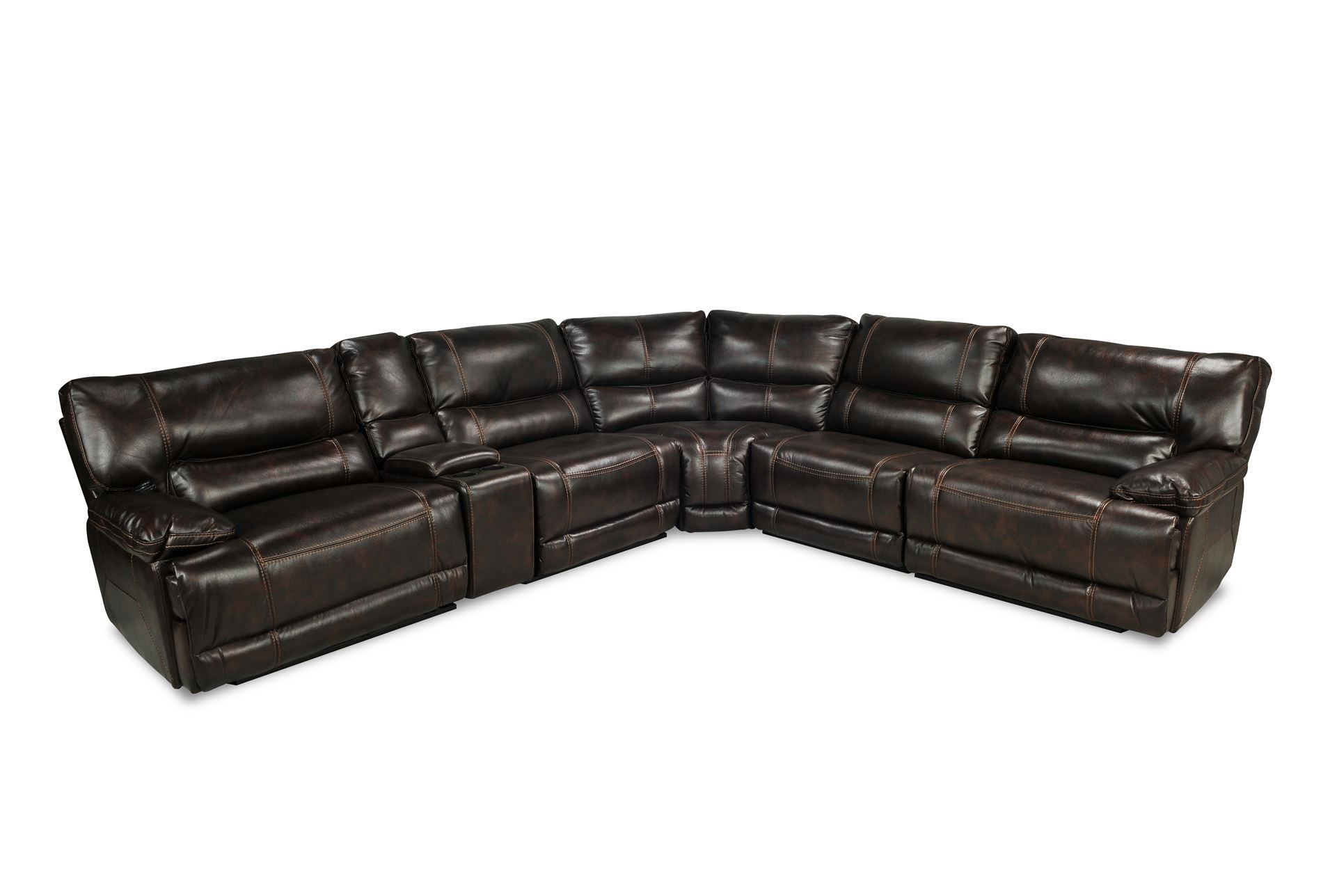 Marx Nutmeg 6 Piece Power Reclining Sectional