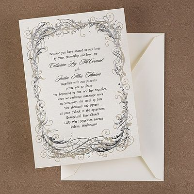 Silver Scrolls Invitation   Wedding Invitation Ideas   Wedding Invites   Wedding  Invitations   Create A FREE Proof Online   Order Sample Invitations
