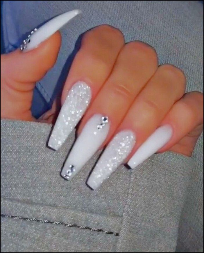 138 Creative And Newest Acrylic Nails Designs For This Year Page 37 Myblogika Com Long Acrylic Nails Coffin Best Acrylic Nails White Acrylic Nails