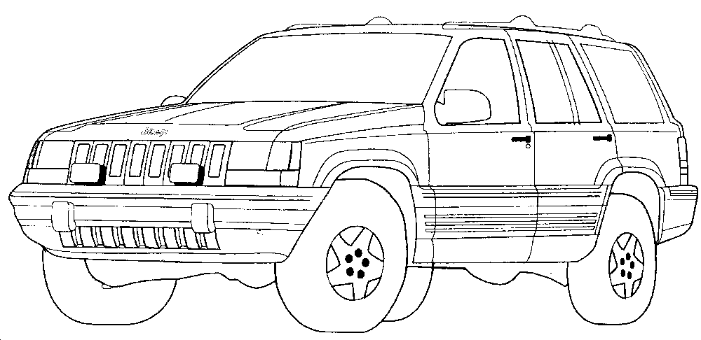 coloring pages of cars coloring pages printable - Coloring Page Jeep