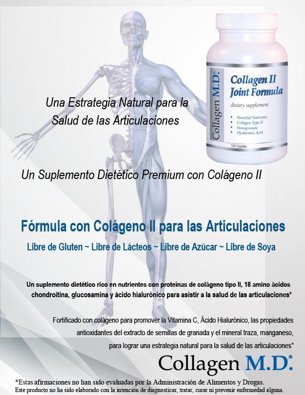 Collagen M.D.® Sin gluten - Colágeno tipo 2 - Fórmula con Colágeno II para las Articulaciones Suplemento Dietético Profesional #SuplementoDietéticoProfesional #SinGluten #Colágenotipo2