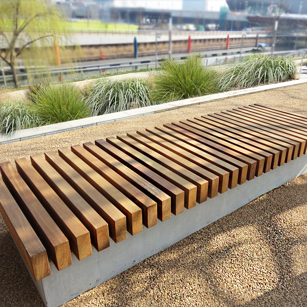 Wall Seat Woodscape Offers A Bespoke Design Service To Help You Create Innovative Hardwood Street Furniture Spec Wall Seating Street Furniture Garden Seating