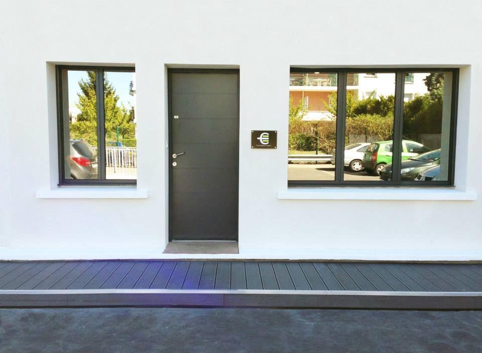 Entrée du0027Econologique Système Porte blindée dernière génération - cout d une terrasse en bois