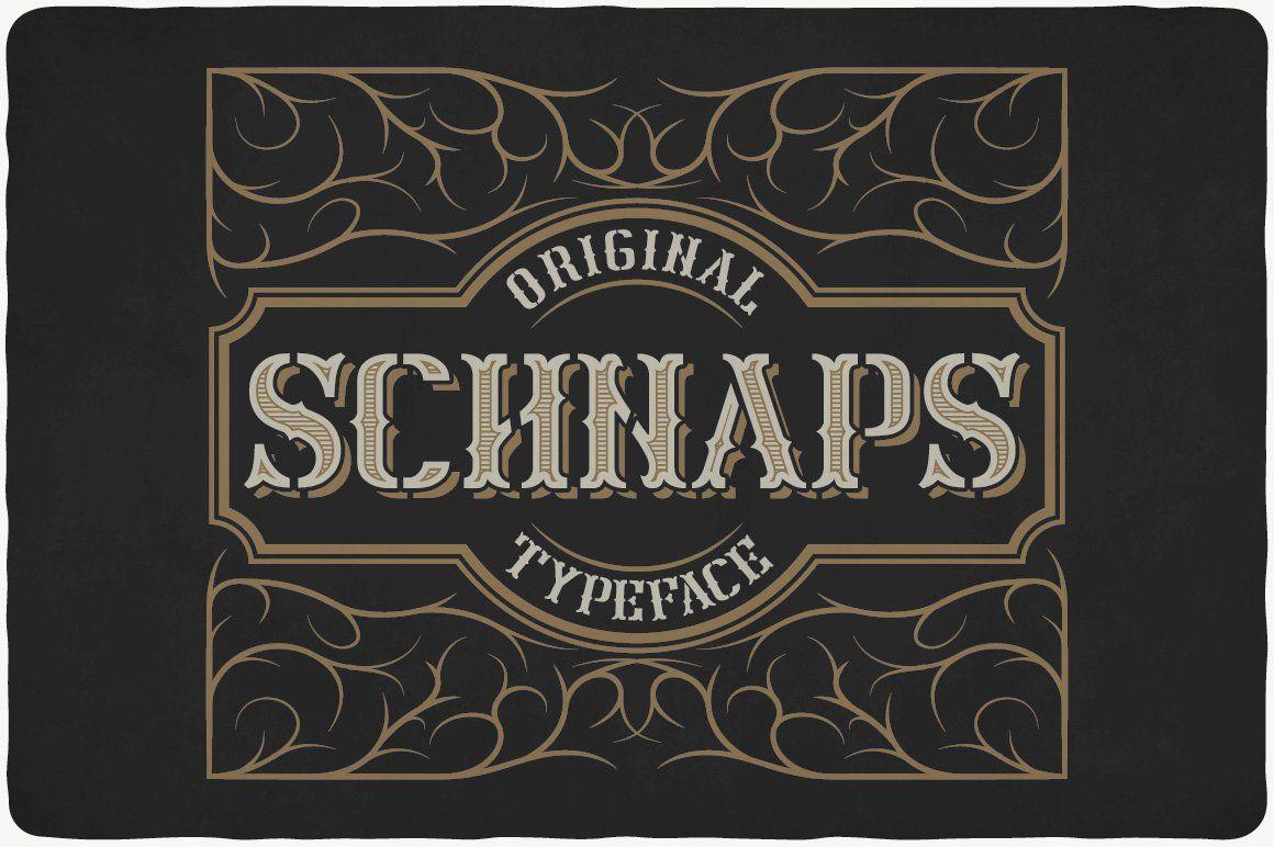 Schnaps Typeface In 2020 Vintage Fonts Typeface Font Bundles