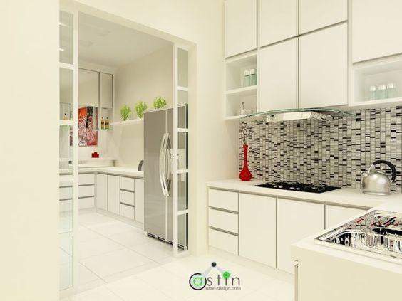 White House Theme Wet Dry Kitchen Interior Design Kitchen
