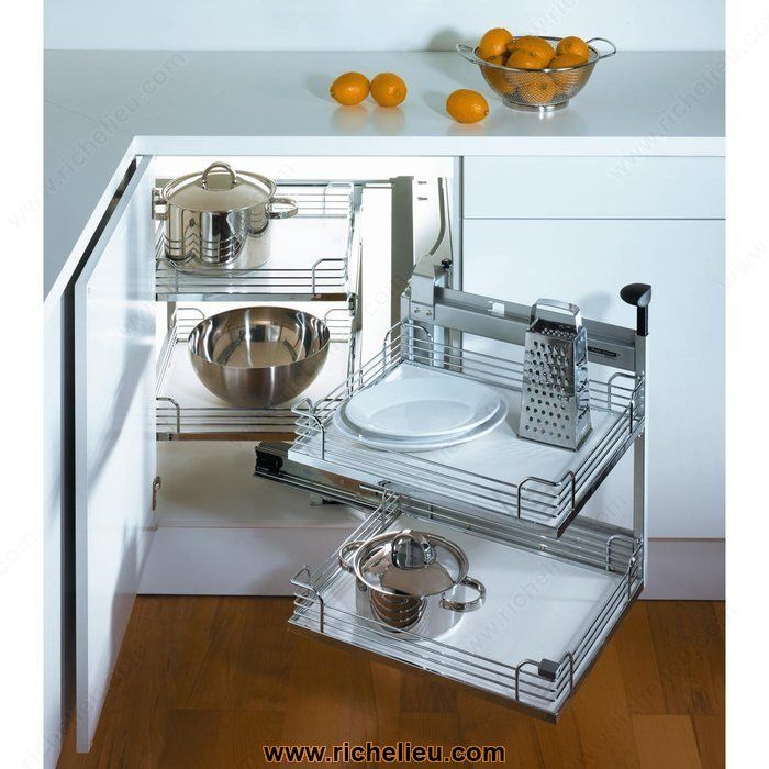 Magic Corner Ii Set Minimum Opening Of 394 Mm 15 1 2 Corner Kitchen Cabinet Kitchen Corner Cupboard Blind Corner Cabinet