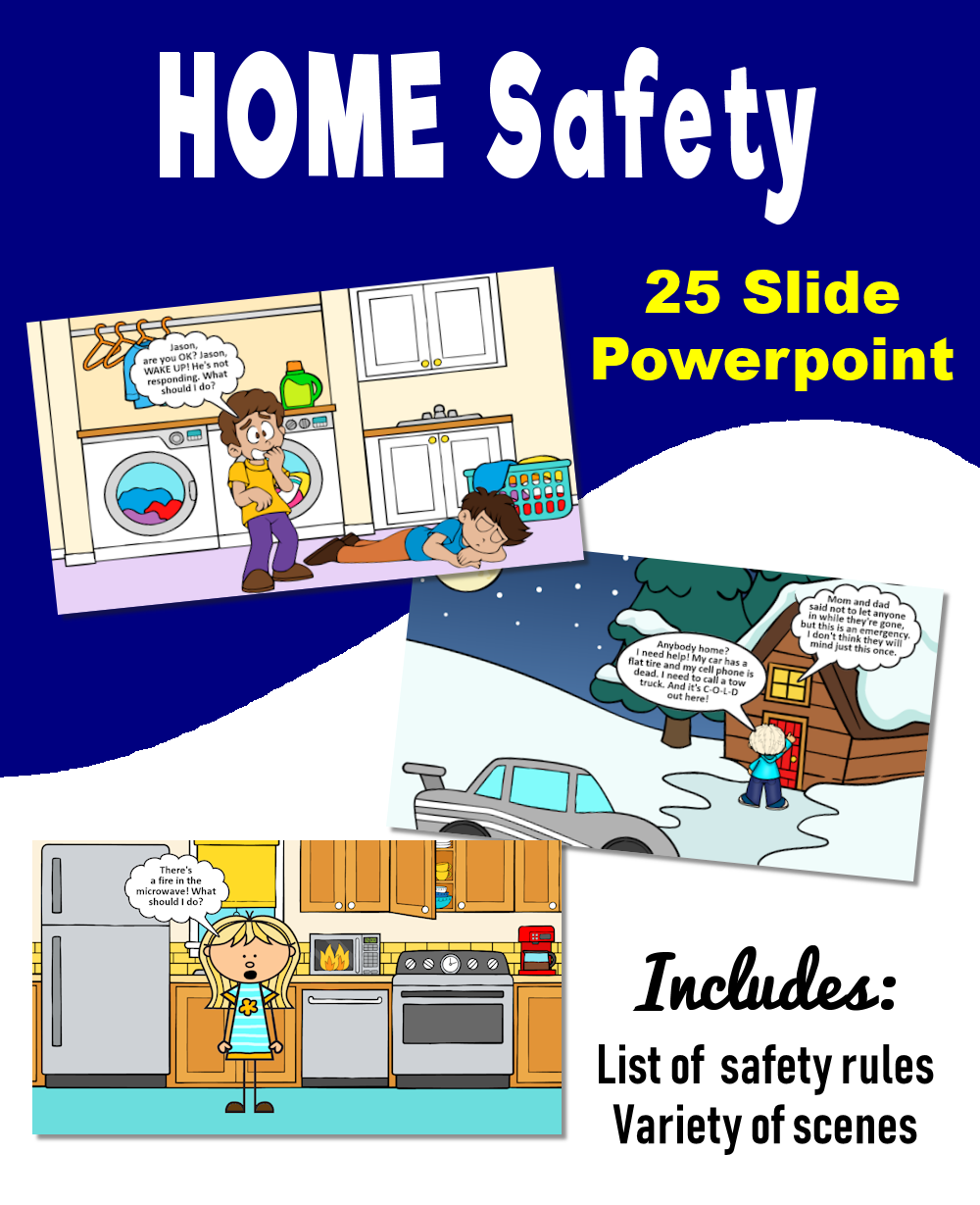 Home Safety Powerpoint Home Safety Occupational Therapy Kids School Safety