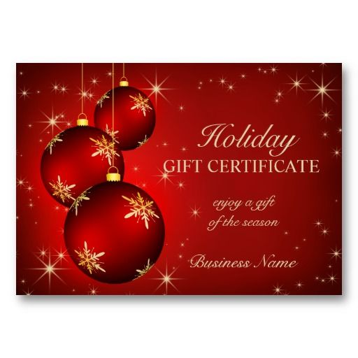 Travel Gift Vouchers Wedding Gifts: Holiday Season Gift Certificate