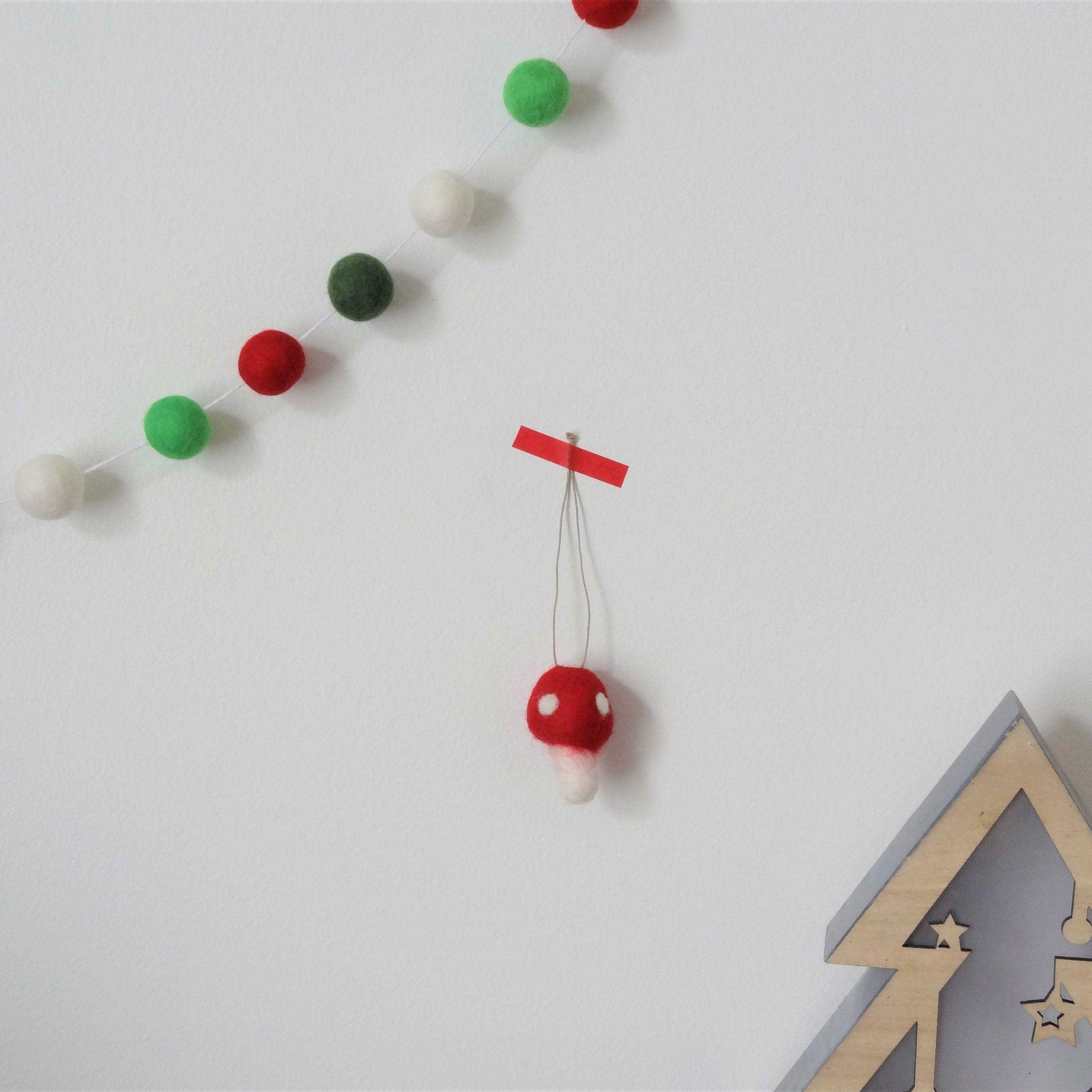Ornement Sapin De Noel Ornements de Noël champignon/décoration champignon/feutre noel