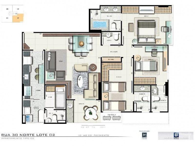Apartamento de 3 quartos  Venda Aguas Claras  DF  RUA