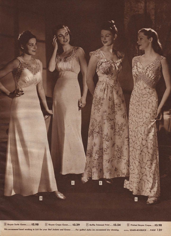 1940s Sears Holiday - Vintage Nightgowns ad  b88759c16