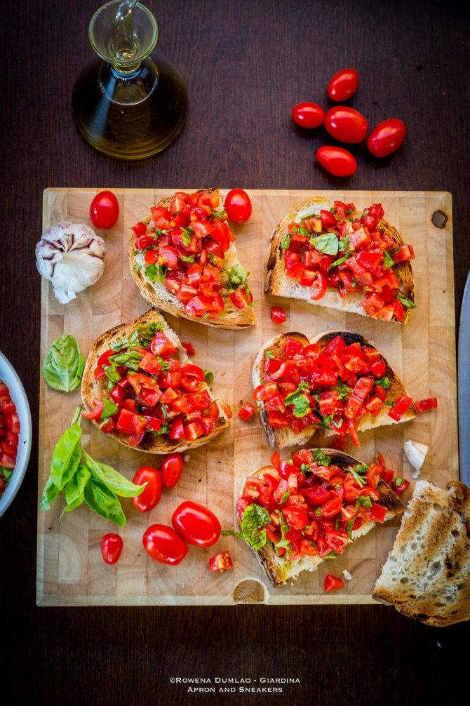 Apron and Sneakers - Cooking & Traveling in Italy and Beyond: Bruschetta with Tomatoes (Bruschetta al Pomodoro)