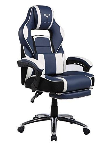best gaming computer chairs lazy boy massage chair topsky high back racing style navy white