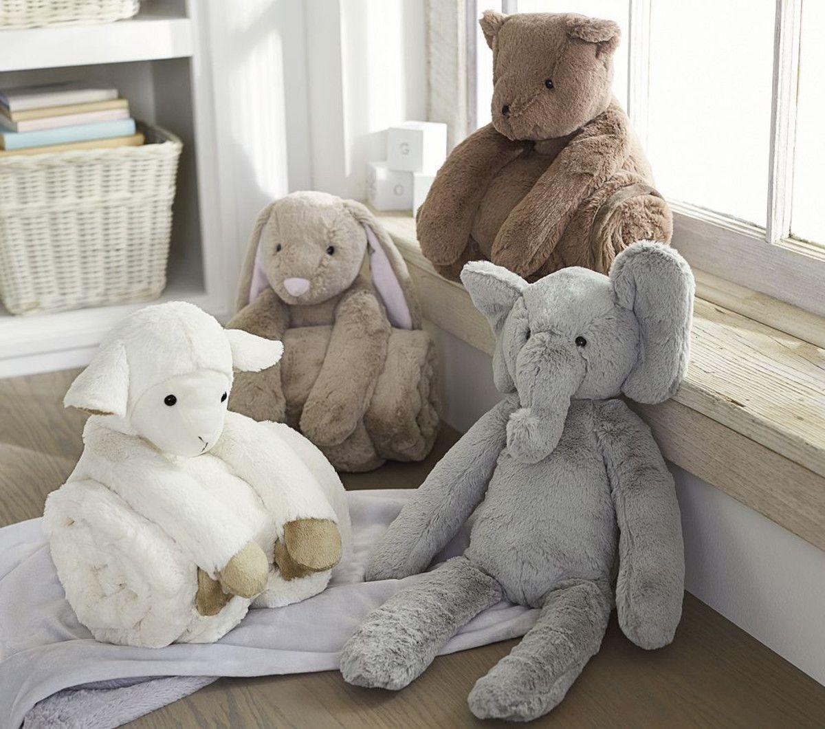 Plush & Stroller Blanket Set Pottery barn baby
