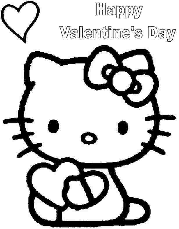 Download And Print These Hello Kitty Valentine Coloring Pages For