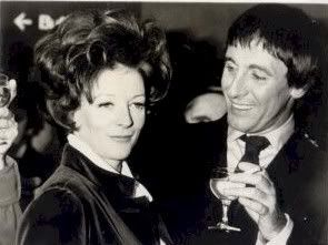 Maggie Smith, (with then-husband Robert Stephens), after learning of