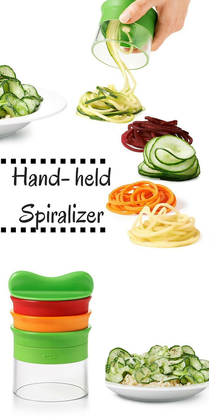 I have been wanting a spiralizer, this one looks easy and efficient! #cookingtools #kitchengadgets #spiralizer #affiliate #cooking