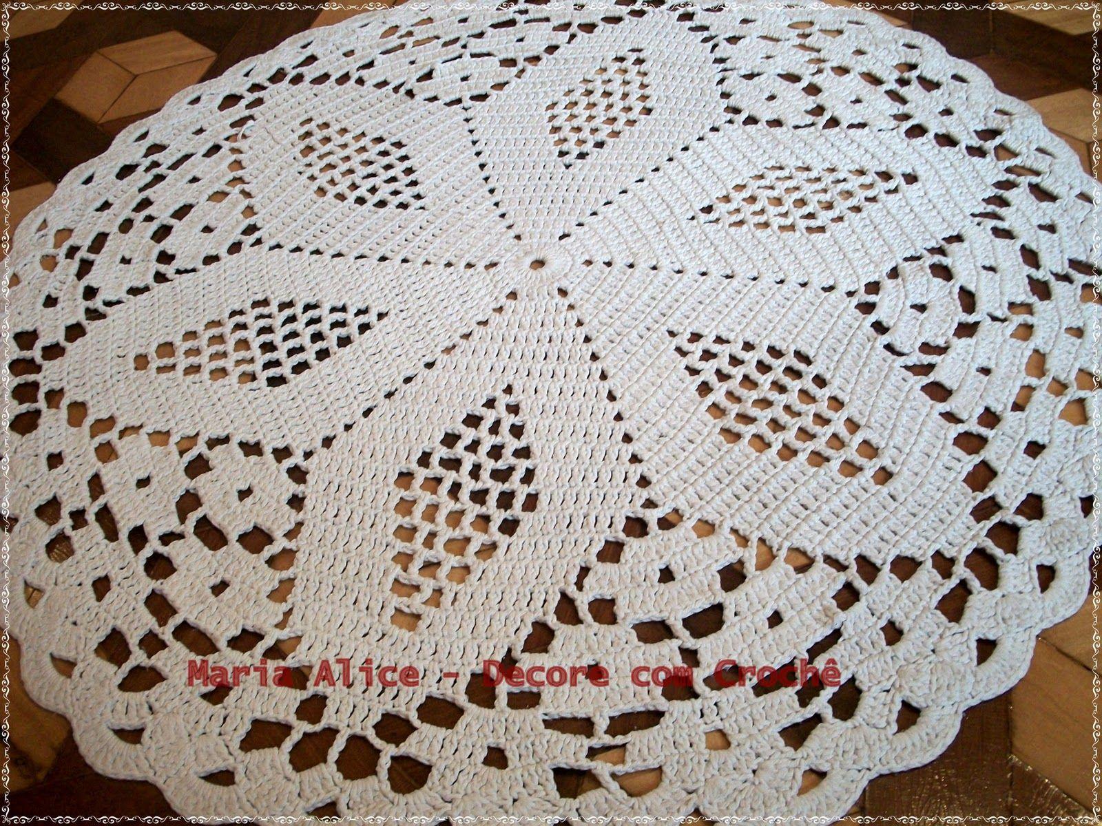 Croche De Barbante Redondo Pesquisa Google Croch E Trico  -> Tapete Pra Sala De Croche