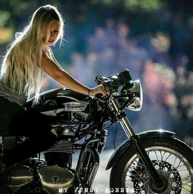 Blonde Biker Babe
