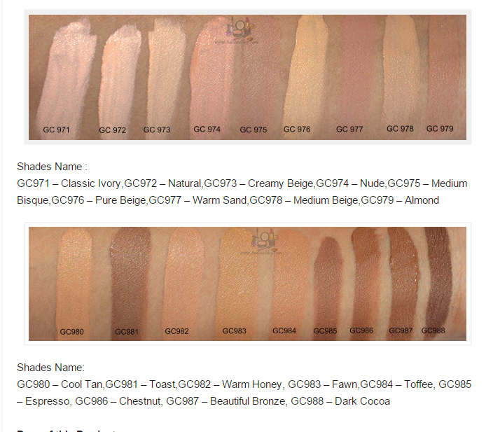 L.A. Girl Pro Conceal HD Concealer Swatches | Health and ...