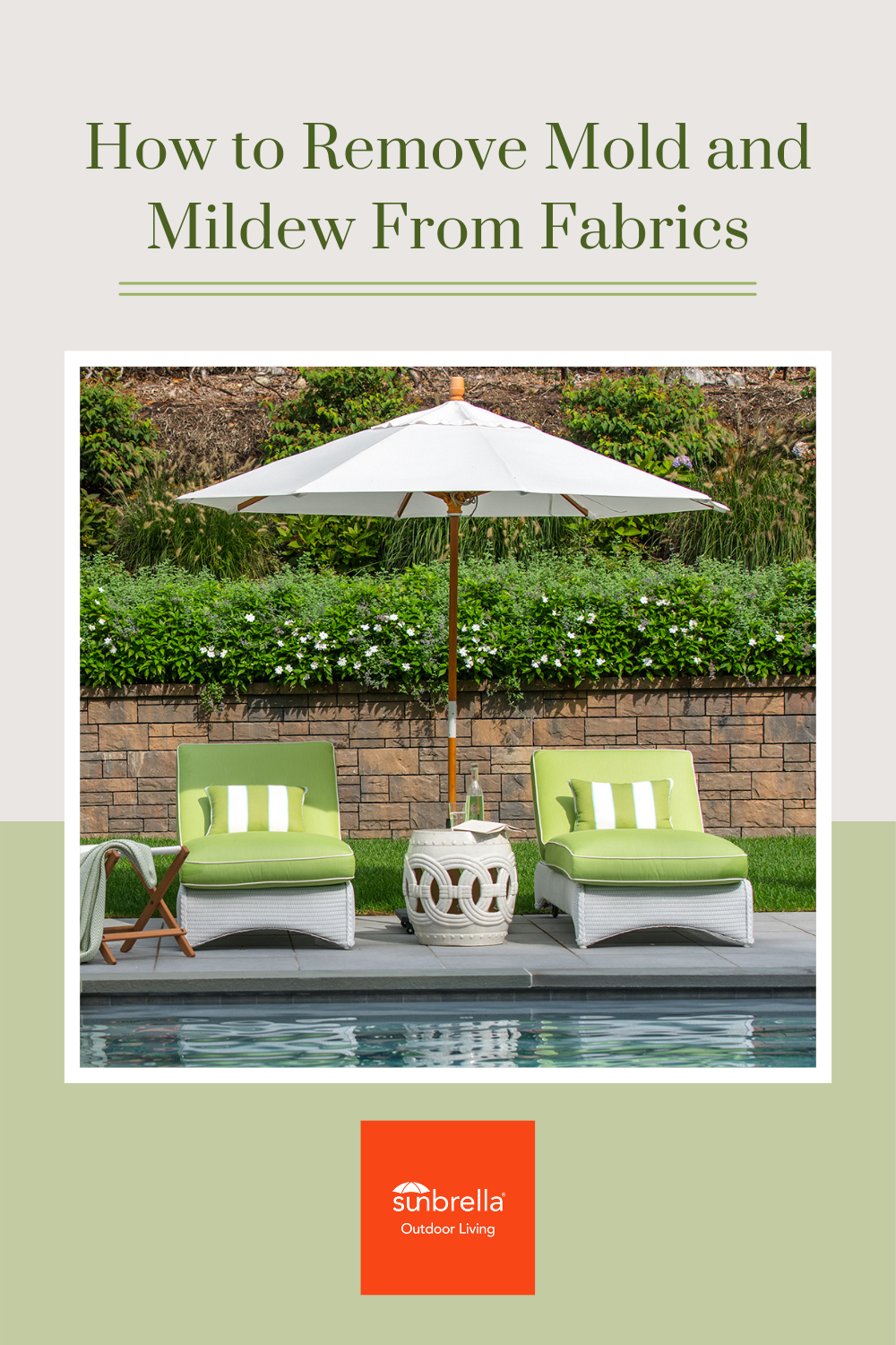 Inspiration How To Clean Mold And Mildew From Sunbrella Fabrics In 2021 Outdoor Cleaning Household Cleaning Tips Mold And Mildew