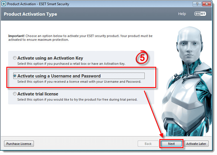 activation key eset mobile security