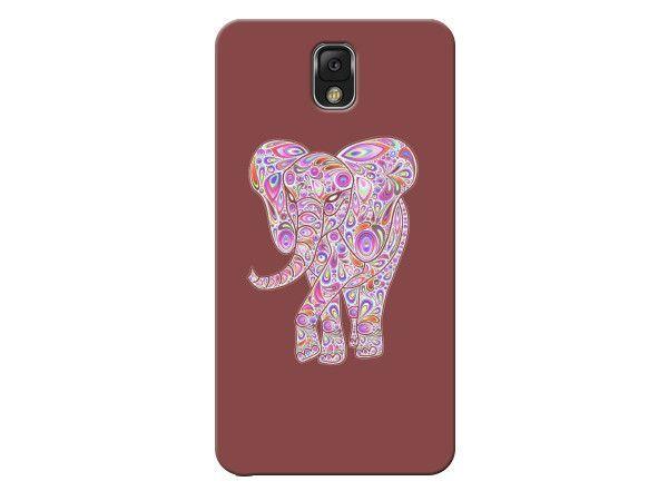 Maroon Elephant Swirl Phone Case