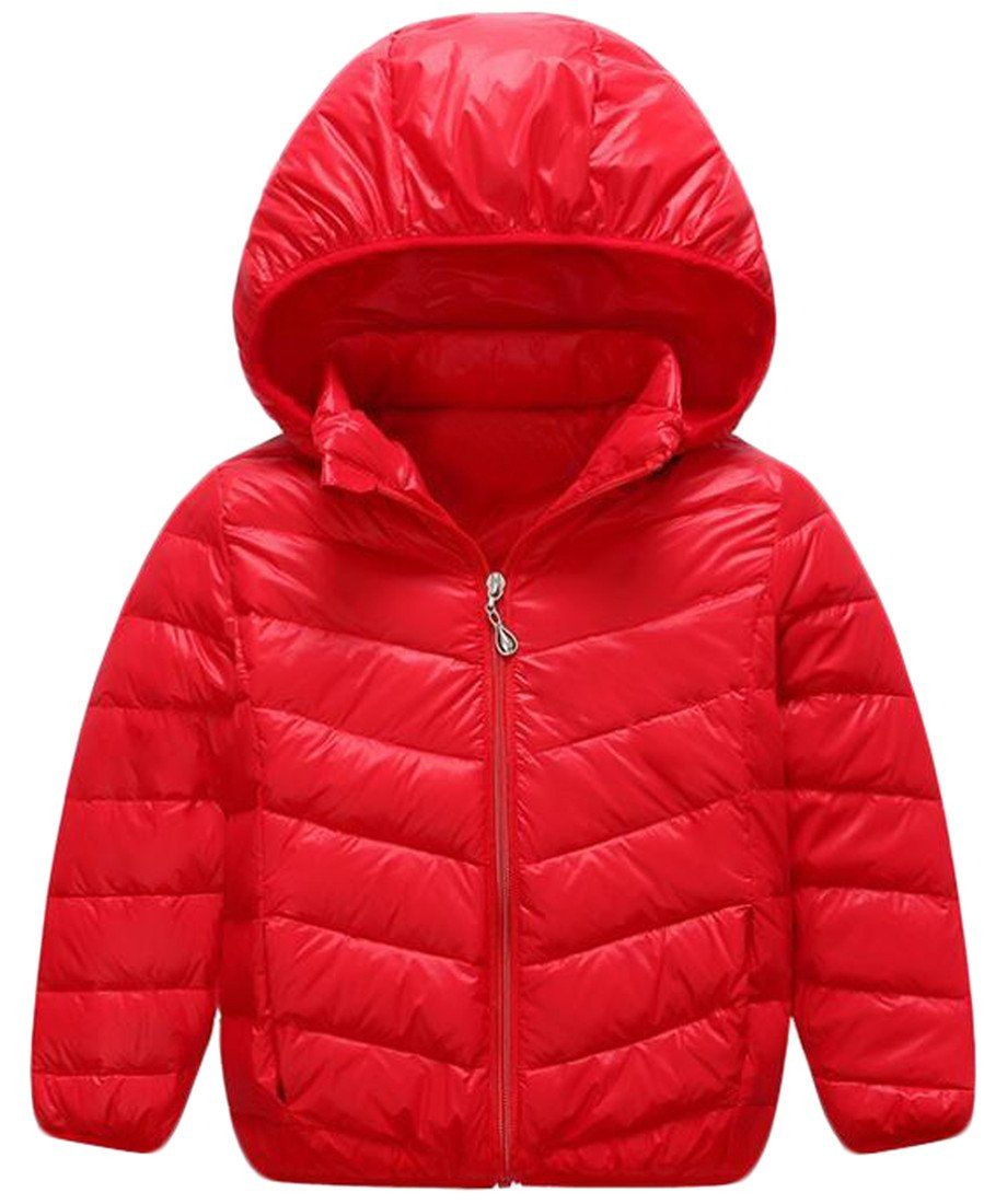 59f2b8239b4c NQ Little Boy Winter Hooded Soild Color Puffer Jacket Outerwear red ...