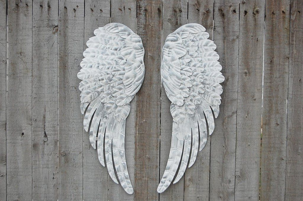 White Amp Silver Angel Wings Shabby Chic Shop
