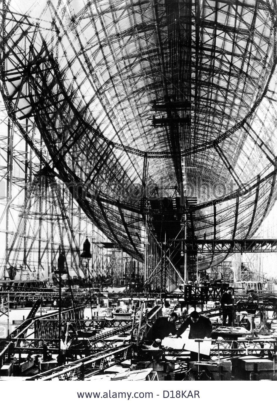 hindenburg-airship-under-construction-the-almost-complete-steel-frame-D18KAR.jpg (945×1390)