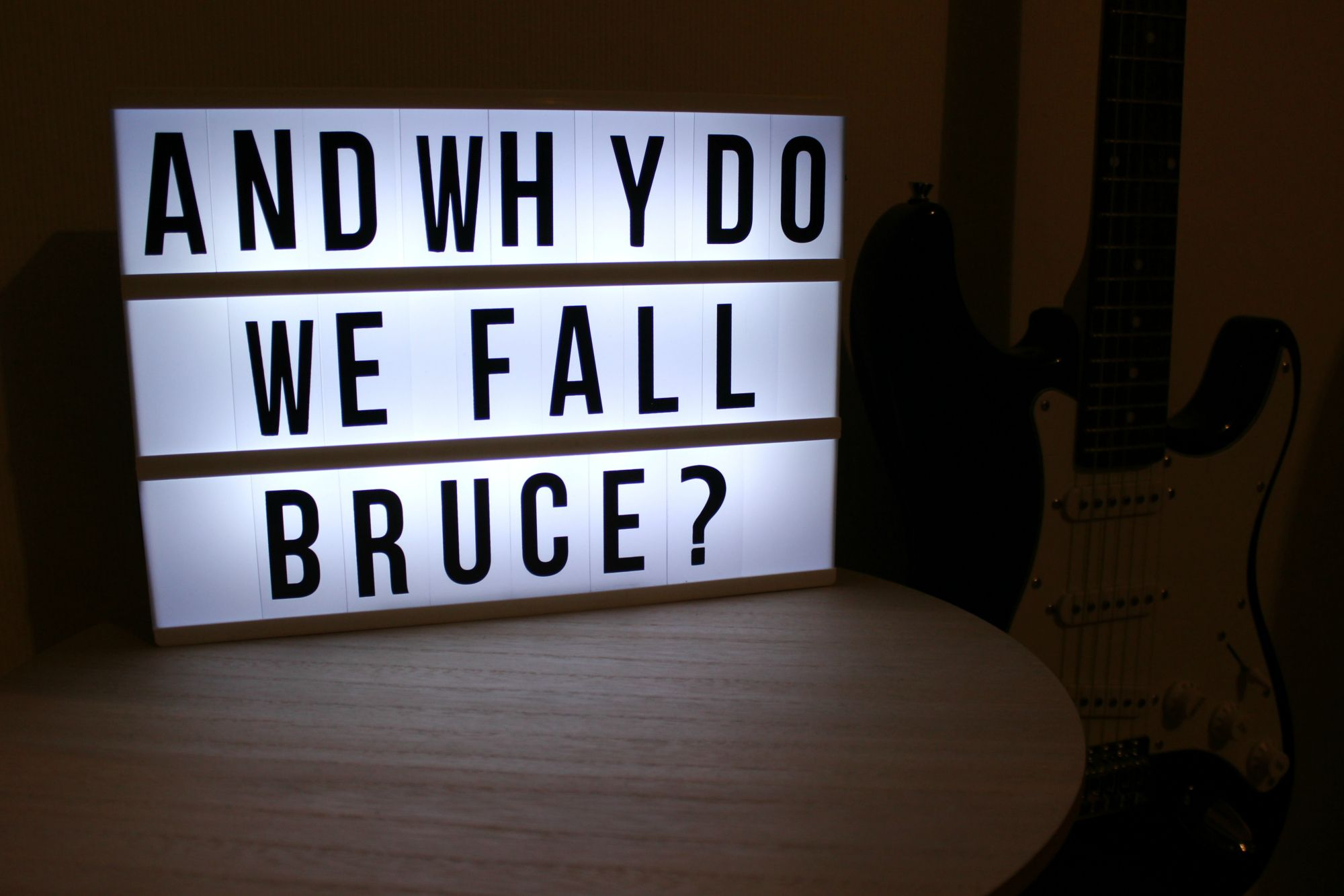 ... and why do we fall Bruce? Batman <3