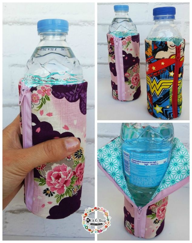 couture sac à grande bouteille d'eau