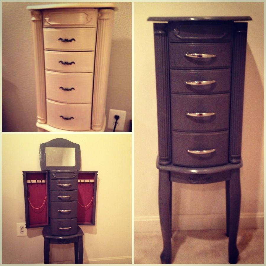 refinished a jewelry armoire i got for only $30 to match my ...