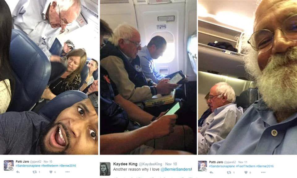 Bernie Flying Coach Man Coach Bernie Sanders