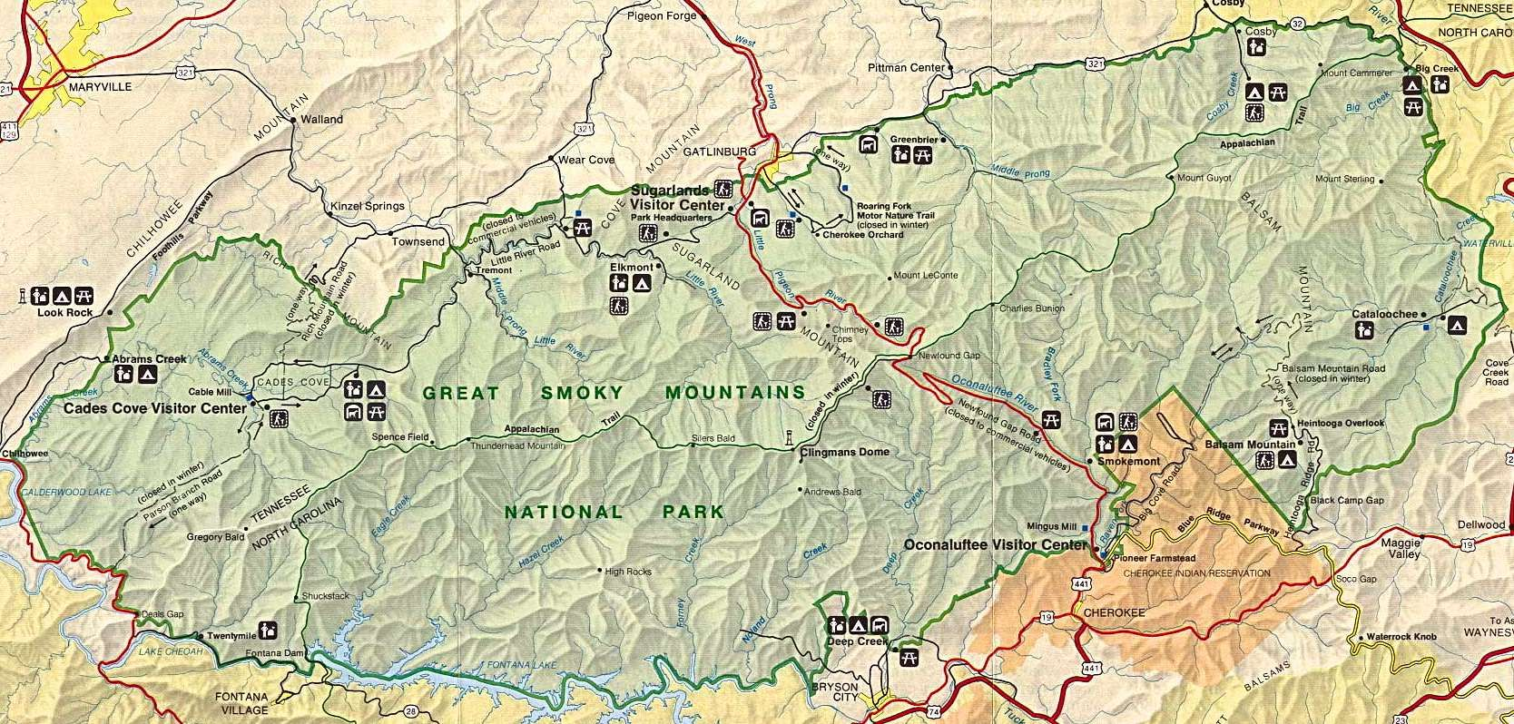Smoky Mountains Favorite Places Spaces Pinterest Smoky - National parks locations map