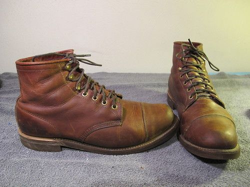 f8cdec7931e CHIPPEWA ll Bean Katahdin Iron Works Engineer Motorcycle Boots Size ...