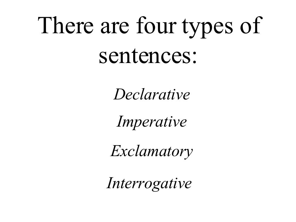 Good Way To Teach Kids The Four Types Of Sentences By